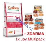 Calibra Dog GF Adult Medium & Small Salmon  12kg + ZDARMA MULTI JOY