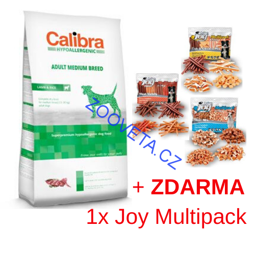 Calibra Dog HA Adult Medium Breed Lamb  14kg + ZDARMA MULTI JOY
