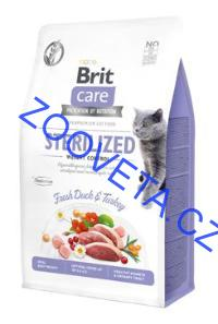 Brit Care Cat GF Sterilized Weight Control, 0,4kg