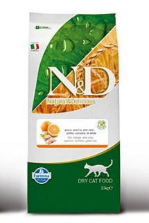 N&D GF CAT Adult Fish & Orange 10kg