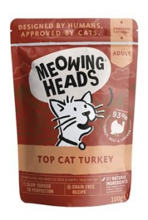 MEOWING HEADS Top Cat Turkey kapsička 100g