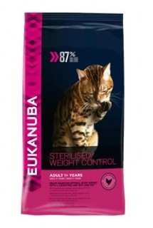 Eukanuba Cat Adult Sterilised /Weight Control kuře 3kg