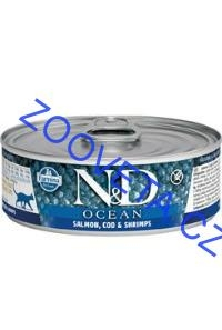 N&D CAT OCEAN Adult Salmon & Codfish & Shrimps 80g