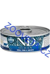 N&D CAT OCEAN Adult Small Tuna & Shrimps 80g