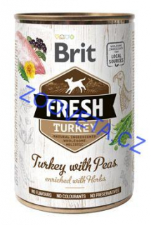 Brit Dog Fresh konz Turkey with Peas 400g