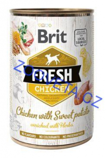Brit Dog Fresh konz Chicken with Sweet Potato 400g