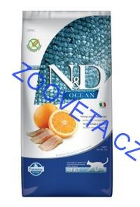 N&D OCEAN CAT GF Adult Herring & Orange 5kg