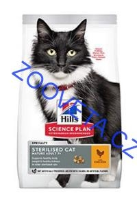 Hill's Fel. Dry SP Mat Adult7+Steril. Cat Chicken 300g