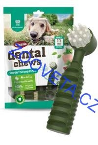 Dental Chews Super Toothbrush máta a čaj 170g/11ks