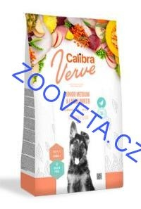 Calibra Dog Verve GF Junior M&L Chicken&Duck 12kg+malé balení zdarma